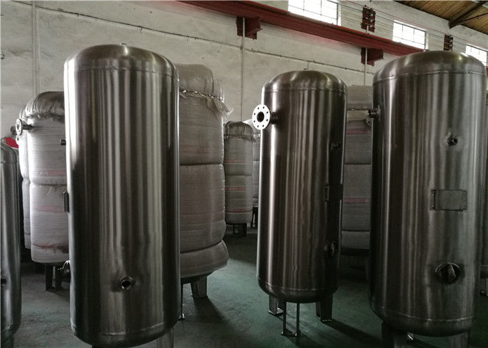 80 Gallon Stainless Steel Compressor Air / Gas Storage Tanks 1.0MPa Pressure